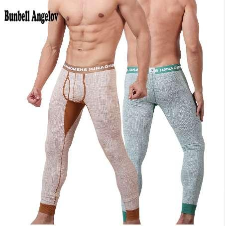 Bunbell Angelov Long Johns Cotton Men Thermal Pants Winter Thin U Waist Underwear Autumn Pantalon Termico Soft Underpants M-XXL