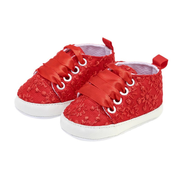 New Baby The First Walker Shoes Autumn Children\'s Lace Embroidered Shoes Baby Girl Toddler