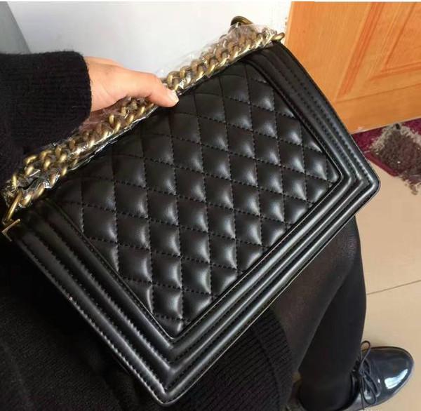 Classic Leather black gold silver chain Envío libre de la venta caliente Wholesale retail nuevos bolsos bolsos de hombro bolsas bolsas de mensajero