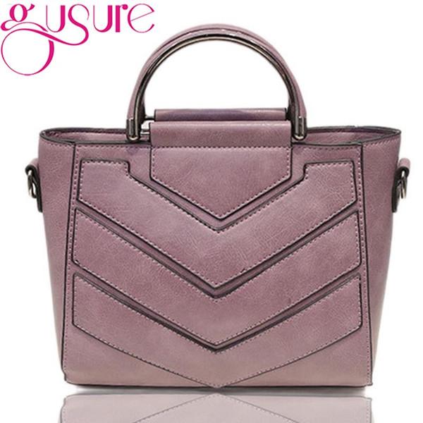 Gusure Pu Leather Handbag Shoulder Tote Women Bag Satchel Messenger Crossbody Bags Soft Black Women 'S Bag Handbags