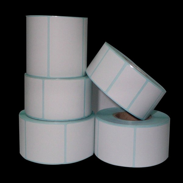 700pcs/roll Thermal Label Rolls Thermal Barcode Stickers Labels Paper Supermarket Price Blank Label Direct Print Sticker 40x20mm