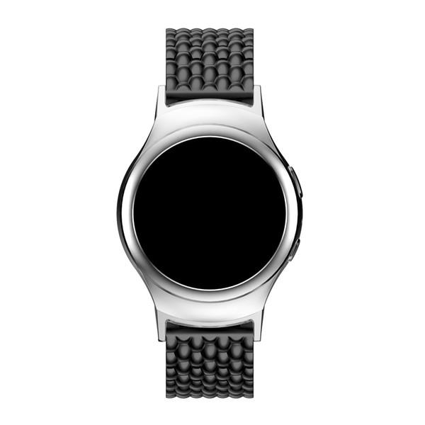 Yeni Sıcak Satış Yaratıcı Zarif Paslanmaz Çelik Watch Band Kayışı + Konektörü Samsung Galaxy Dişli S2 SM-720 F80