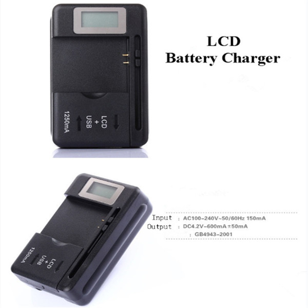 Universal Intelligent LCD Indicator Battery Charger US EU AU Plug For Samsung S4 I9500 S3 I9300 NOTE 3 S5 With Usb Output Charge