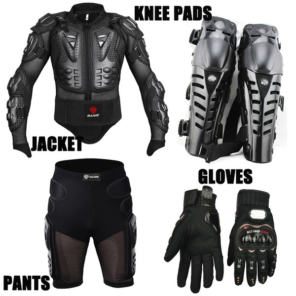 Sport Racing Skiing Drop Resistance Racing Motorcycle Full Body Armor Jackets +Racing Shorts +Knee Pads +Gloves