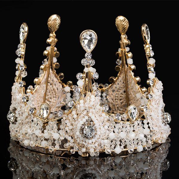 2018 Vintage Luxury Bridal Tiara Jewelry Rhinestone Pearl Royal Crown For Wedding Accessories Bling Wedding Hair Accessories Wedding Tiara