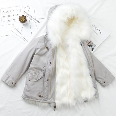 2018 Yeni Çocuk Kış Uzun Giysiler Erkek Kız Faux Kürk Ceket Sıcak Kalınlaşmak Coat 2-9y Kızlar Windbreak Pembe Kış Ceket Dış Giyim