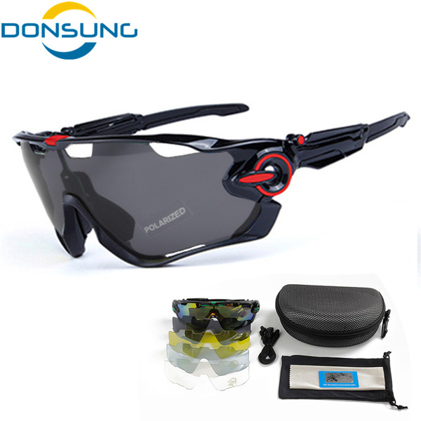 fd110d2b97 DONSUNG Sports Sunglasses Cycling Polarized Glasses MTB Adjustable Leg TR 90  Frame 5 Lenses Bike Sport Goggles Bicycle Eyewear