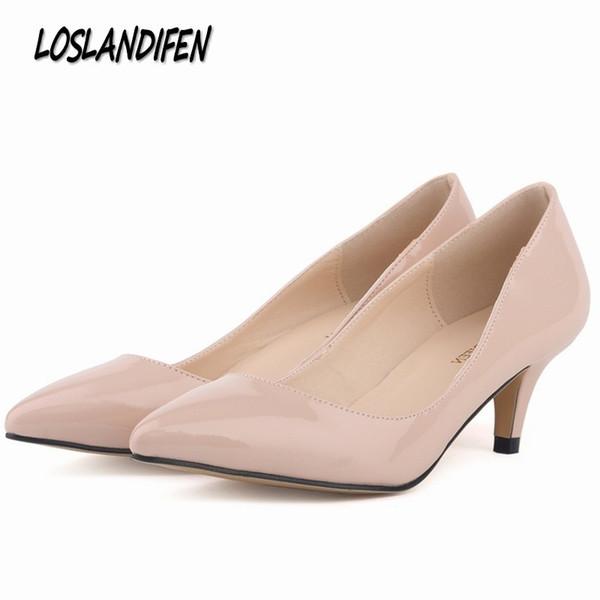 Großhandel Kleid Loslandifen Damen Pumps Rote Untere Schuhe