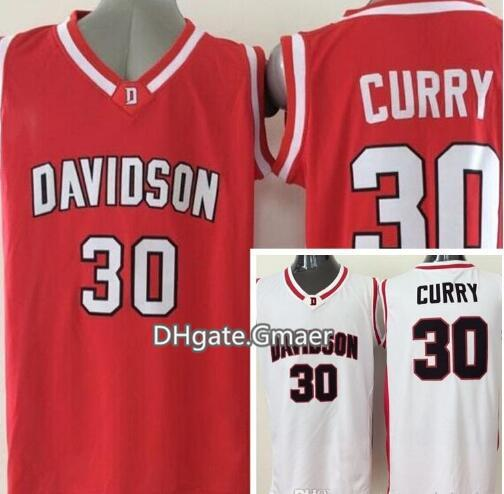 uk availability 6bf46 ef971 2019 Hot Sale #30 Stephen Curry Davidson Wildcats College Jersey Home Red  White Top Quality Stitched University Basketball Shirts From Gmaer, $19.09  | ...