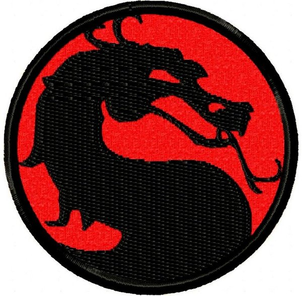Motal Kombat Brutal Street Fighting Video Game Dragon Custom and Unique Iron or Sew on Patch Iron on Clothing Vest Parch Free Shipping