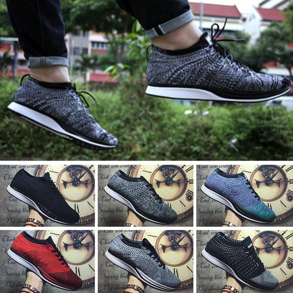 Nike Flyknit Racer Be True Scarpe da corsa per donna uomo, alta qualità scarpe da ginnastica di moda traspirante Balck grigio atletica scarpe da ginnastica taglia 36-45 trainers