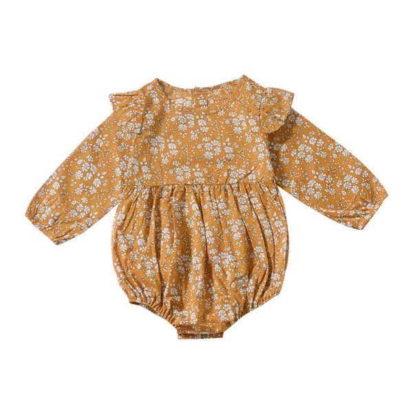 Bébé filles vêtements 2018 mode enfants vêtements enfant en bas âge filles barboteuse manches longues Floral infantile combinaison bébé vêtements nouveau-né bébé en général