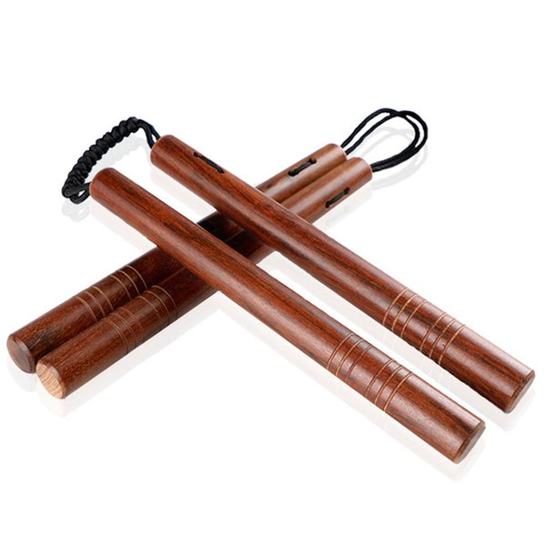28cm Chinese Kung fu Wooden Nunchuck Training Toy Martial Nunchaku Self-defense