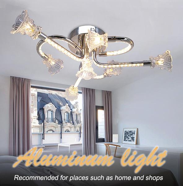 Modern cute decorative aluminium crystal LED ceiling lights iluminacao decorativa plafones LED lustre de cristal for ceiling dinning room