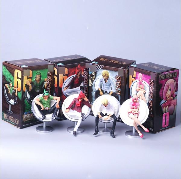 Cartoon 11cm Anime One Piece Vinsmoke Family Reiju Sanji Yonji Sitting Posture PVC Action Figure Toy