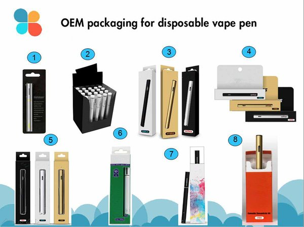 OEM packaging display box retail packaging for vaporizer pen cartridges vape cell liberty King Pen Brass child proof child resistance design