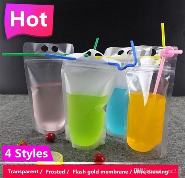 Sacchetto di plastica trasparente autosigillato Sacchetto di bevande al latte Contenitore di caffè Sacchetto di succo di frutta Sacchetto di immagazzinaggio alimentare I150