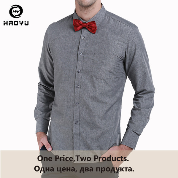 Men Shirt Long Sleeve 2018 New Arrival Antumn Winter Dress Shirt Long Sleeve Breathable Quick Drying Regular Oxford Brand Cloth