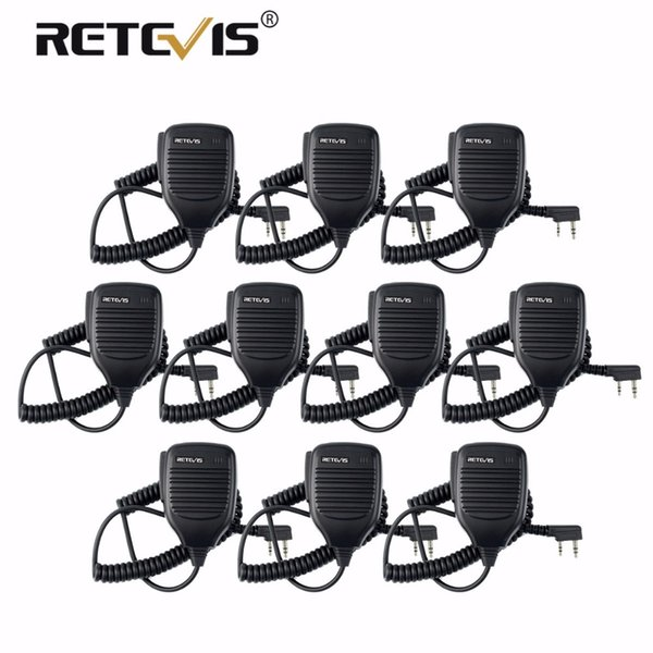 10pcs Walkie Talkie Speaker Microphone PMic For Retevis RT7 RT22 H-777 Baofeng UV-82 UV5R for Puxing HYT TYT