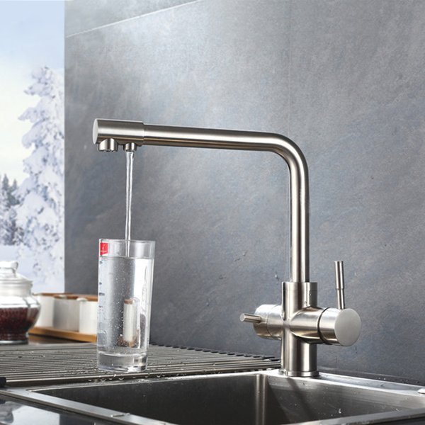 2019 Waterfilter Taps Kitchen Faucets Sainless Steel Mixer Drinking Water  Filter Faucet Kitchen Sink Faucets Water Tap Brushed Finish From  Setsail411, ...