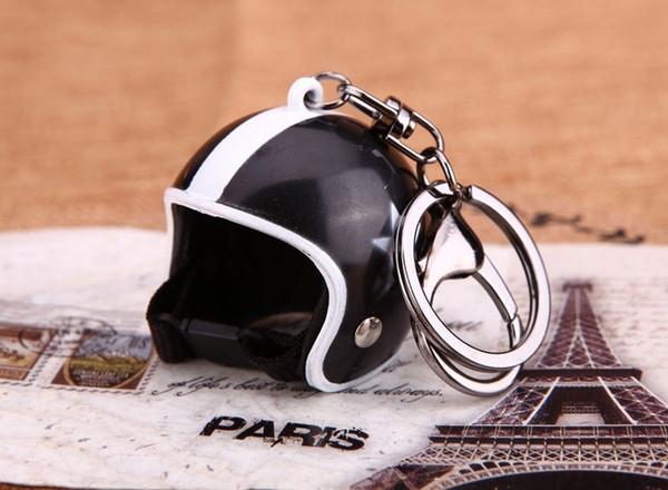 Mode Moto Casques Porte-clés Nouveau Mignon Casque De Sécurité De Voiture kry anneau hommes Porte-clés cadeau Bijoux porte-clé