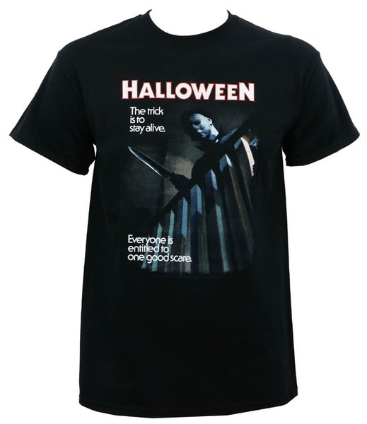 Humorous T Shirts O-Neck Short Sleeve Halloween Movie One Good Scare Michael Myers S M L Xl 2Xl-4Xl Broadcloth T Shirt For Men