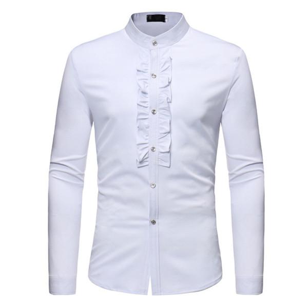 Party Hot Sale Men Shirt Long Sleeve Club Wedding Male Shirts Novelty Sexy Fashion Blouse For Man 2018 Newly Mens Tuxedo Shirt