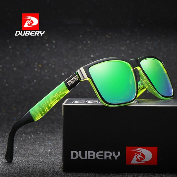 b803dc8194 DUBERY Polarized Men s Sunglasses Luxury Brand Designer Coating mirror Lens  Vintage Sun Glasses for Driving Fishing