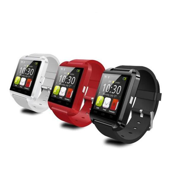 100 adet ücretsiz kargo Bluetooth Akıllı Izle U8 U İzle Android Bilek Pasometre Mp3 Telefonu için Hediye izle
