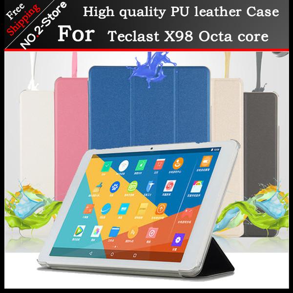 Ultra Slim PU caso stand case capa para Teclast 98 Octa core / X10 quad core 10.1 polegada tablet pc Freeshipping + 3 presente