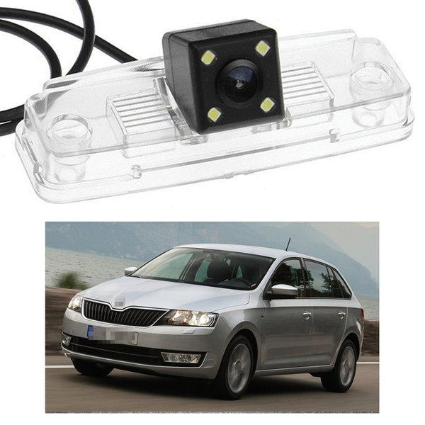 New 4 LED Car Rear View Camera Reverse Backup CCD fit for Skoda Rapid Spaceback 13-16
