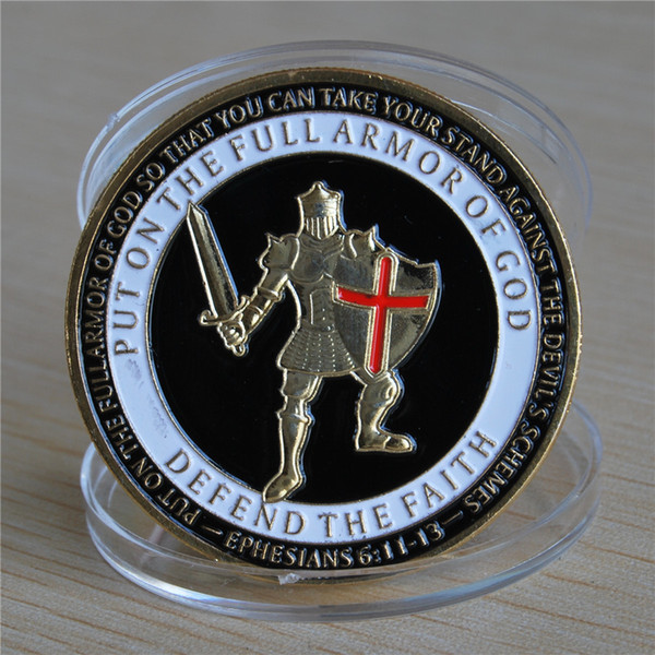 Wholesale American Military Coins Marine Corps Medals United States Put On The Whole Armor Of God Challenge Coin 403mm Interior Design Living Room