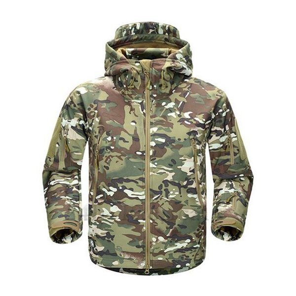 TAD V4.0 Camouflage Jacket Lurker Shark Skin Soft Shell Tactical Waterproof Windproof Sports Jacket Hunting Gear Multicam
