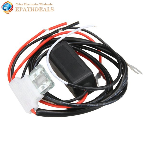 daytime running Waterproof 12V Car LED DRL Relay Daytime Running Harness Auto Controller On / Off Switch Dimmer Parking Light