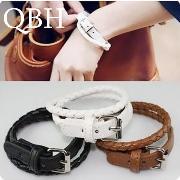 L006 New Steampunk Men Braid Bracelets & Bangle Multi-layer PU Leather Belt Bracelets buckled Women Jewelry Lover pulseras