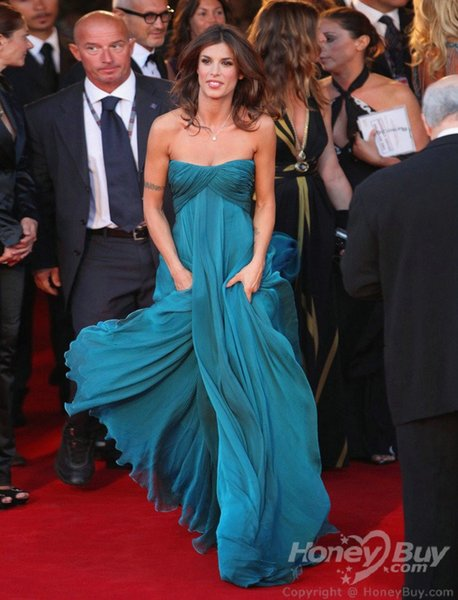kate middleton dress New Charming Celebrity Dresses Elisabetta Canalis for Venice Film Festival Celebrity Dress Evening Gown