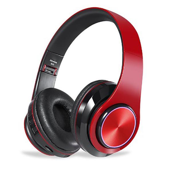 Headband style Bluetooth wired and wireless free switching foldable fashion light-emitting bass stereo sound game music sports headphone