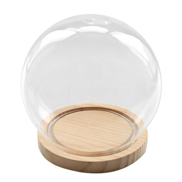 Ball Shaped Glass Cover Micro Landscape Fairy Garden Diy Display Terrarium Vase Container Home Cafe Decor