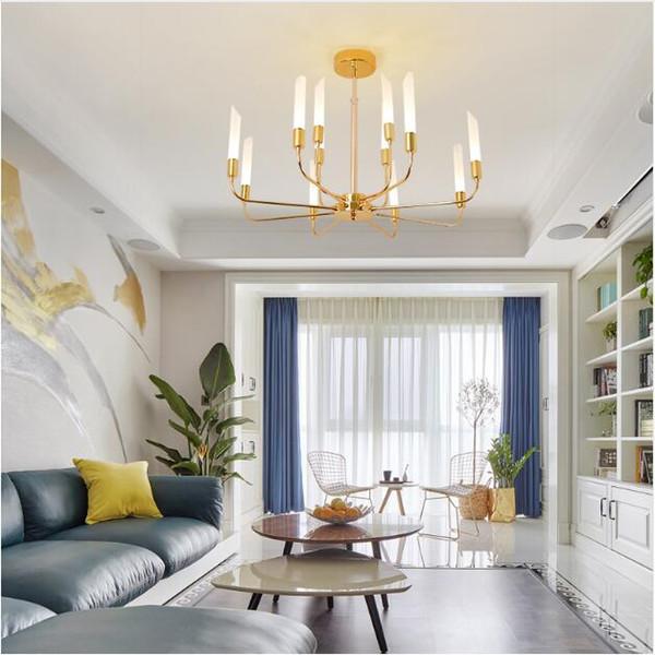 Acquista SVITZ Gold Led Paralume In Vetro Lampadario Sala Da Pranzo Foyer  Moderno Sospensione Moderna Lampada Da Tavolo A Led Lampada Da Bar ...