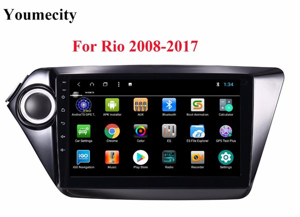 NEW! 2G RAM For RIO Android 8.1 Car DVD player Gps for KIA Rio 2008 2009 2010 2014 2011 2012 2013 2015 2016 with Radio RDS wifi