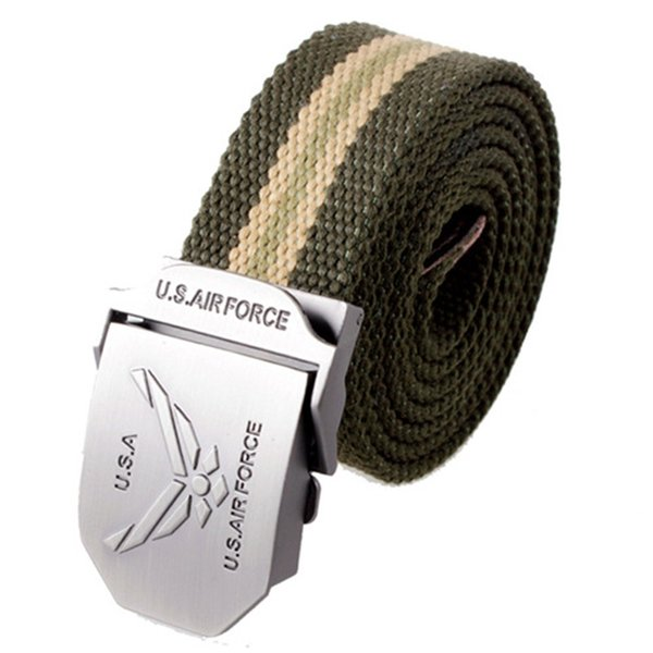 Men Canvas Belts D Type Automatic Buckle Alloy Designer Fashion Formal Solid Color Brand Luxury Outdoors Daily Belt 9wg hh