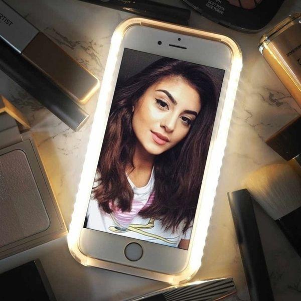 Luminous Illuminated Flashlight LED Light Selfie Fill Light Cell Phone Case Phone Cover for IPhone e41