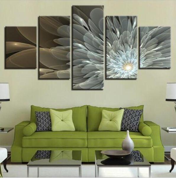 Modular Wall Art Leinwand Poster Zitate 5 Stück Artwork Blumen Bilder gedruckt Malerei Wohnzimmer Home Decor Landschaft gerahmt