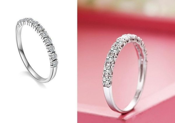 Wholesale-Women's ring Silver Wedding 925 Sterling Silver Rings for Women Purple Red Simulated Diamond Engagement Ring Star Jewelry