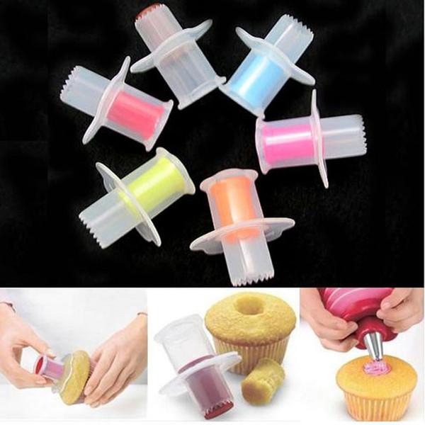 Plastic Bakeware Cupcake Core Remover Cake Cupcake Plunger Corer DIY Cake Decorating Tool Set Kitchen Baking Accessories