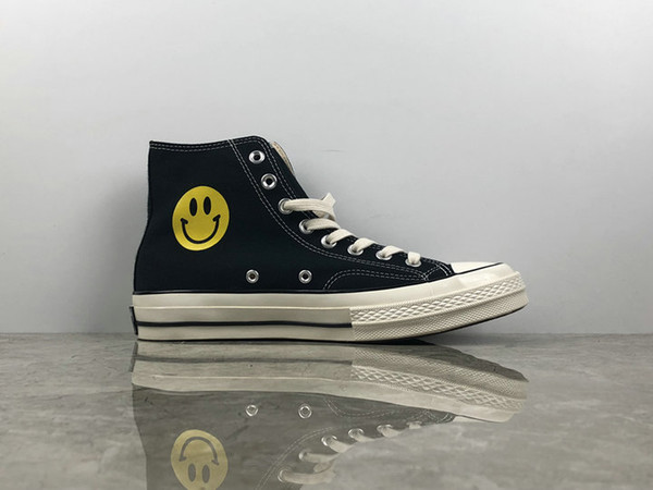 2018 Chinatown Market X Converse Chuck Taylor All Star 1970s Canvas Running Shoes Smile High Tops Designer Converses Sneakers Chaussures Skechers