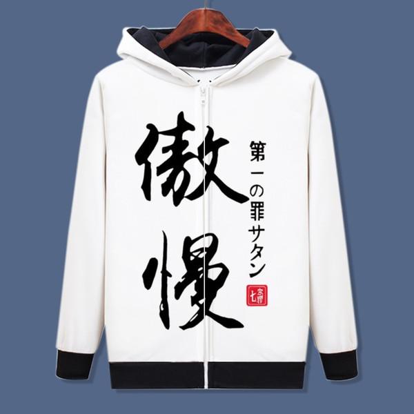 Les sept péchés capitaux 3D Anime Hoodies Sweatshirts Unisexe Casual Pull manteau