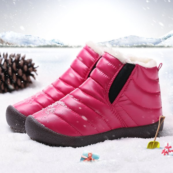 Winter Shoes Warm Snow Boots Girls Waterproof Plush Snow Boots Children Boys Fashion Warm Toddler Girl Boots