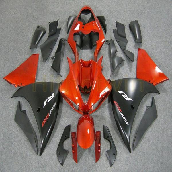 Tornillos + Custom naranja negro R1 09-11 años Kit de carrocería de la motocicleta ABS para Yamaha YZF-R1 2009 2010 2011 YZFR1