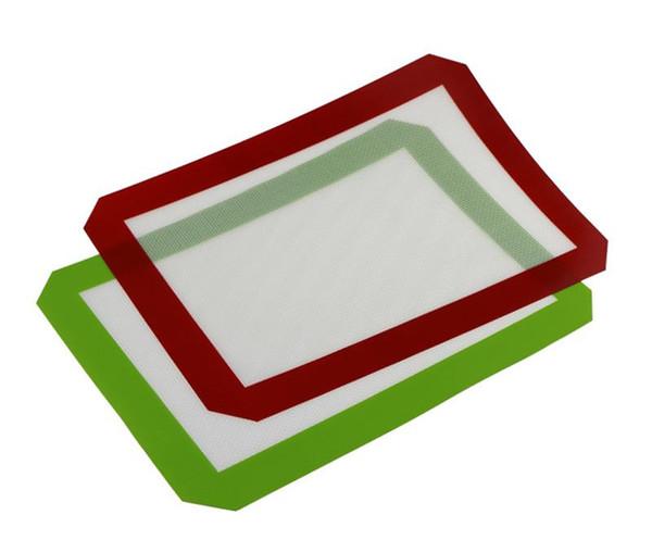 Tapis anti-adhésifs en silicone pour cire 30 cm x 21 cm (11,81 x 8,27 pouces) Tapis de cuisson en silicone Tampon à l'huile de cuisson au four Herbe sèche DHL